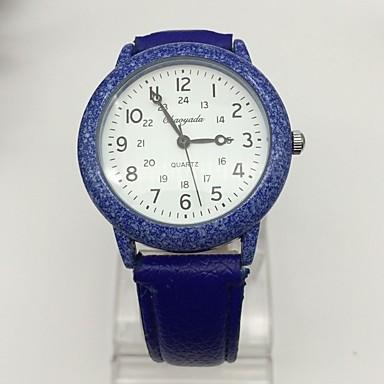 Heren Modieus horloge Polshorloge Kwarts Leer Band Cool Vrijetijdsschoenen Elegante horloges Zwart Blauw Rood Bruin Geel
