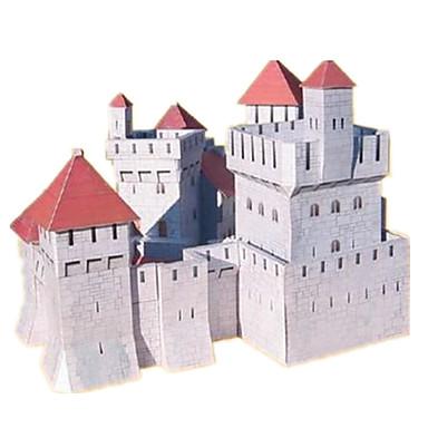 Puzzle 3D Modelul de hârtie Lucru Manual Din Hârtie Μοντέλα και κιτ δόμησης Castel Clădire celebru Casă Arhitectură 3D Reparații Clasic 6