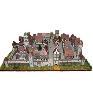 3D-puzzels Bouwplaat Papierkunst Modelbouwsets Beroemd gebouw Huis Architectuur DHZ Klassiek Unisex Geschenk