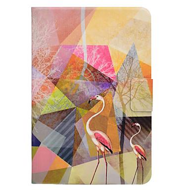 Maska Pentru Samsung Galaxy Tab O 9.7 Tab de 8,0 Titluar Card Cu Stand Întoarce Magnetic Model Carcasă Telefon Flamingo Greu PU piele