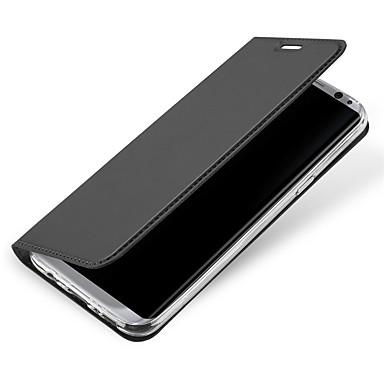 Hülle Für Samsung Galaxy S8 Plus S8 Kreditkartenfächer Flipbare Hülle Ganzkörper-Gehäuse Volltonfarbe Hart PU-Leder für S8 Plus S8