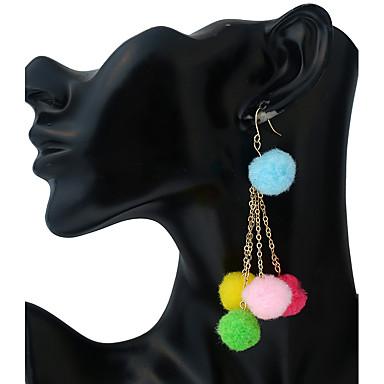 Pentru femei Închizătoare Cercel  Cercei Picătură Cercei cu bile Γεωμετρικά Vintage Modă Adorabil Aliaj Metalic Plastic neregulat