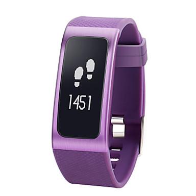 Damen Smart Uhr digital Silikon Band Schwarz Lila