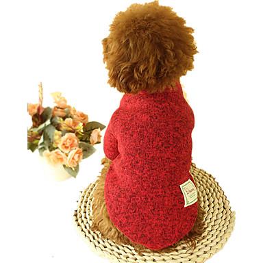 كلب البلوزات ملابس الكلاب سادة رمادي كوفي أحمر أخضر قماش قطيفة قطن بطانة فرو كوستيوم للحيوانات الأليفة كاجوال/يومي
