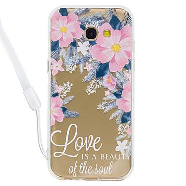 Hülle Für Samsung Galaxy A5(2017) A3(2017) Transparent Muster Rückseite Wort / Satz Durchsichtig Blume Hart Acryl für A3 (2017) A5 (2017)