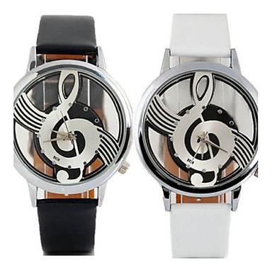 للمرأة ساعات فاشن ساعة كاجوال كوارتز ساعة كاجوال جلد فرقة كاجوال أسود الأبيض