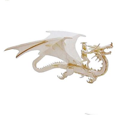 Puzzle 3D Puzzle Modele de Lemn Μοντέλα και κιτ δόμησης Dinosaur Animal 3D Simulare Reparații Lemn Lemn natural Clasic Pentru copii Unisex