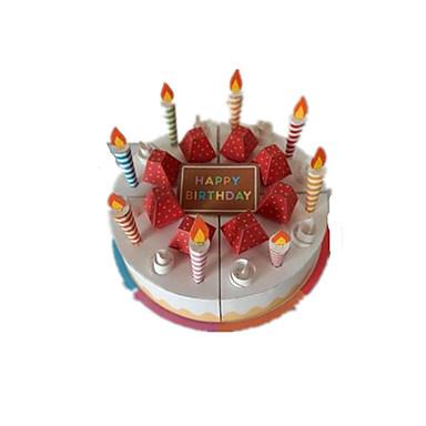 قطع تركيب3D ألعاب الطعام أشغال الورق مربع مأكولات 3D كعكة حلوى آمن للطفل اصنع بنفسك محاكاة نابض بالحياة بلاستيك عيد ميلاد كلاسيكي كل