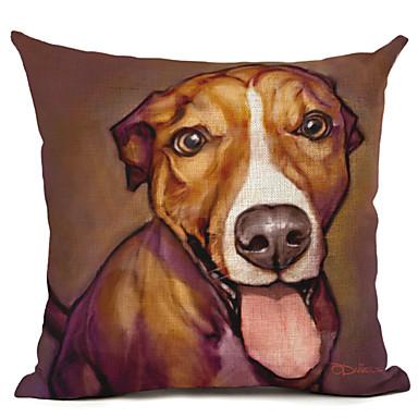1 Stück Leinen Kissenbezug,Hund Modern/Zeitgenössisch
