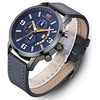 Heren Kwarts Polshorloge / Militair horloge / Sporthorloge Japans Kalender / Waterbestendig / Creatief / Grote wijzerplaat / Cool Echt