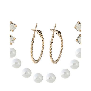 Dames Oorknopjes Druppel oorbellen Gepersonaliseerde Elegant Modieus Eenvoudige Stijl Kromi Kunstdiamanten Sieraden Dagelijks gebruik