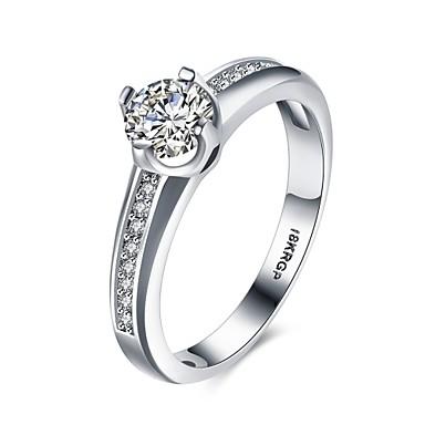 Dames Ring Zirkonia Zilver Zirkonia Koper Verzilverd Geometrische vorm epäsäännöllinen Gepersonaliseerde Luxe Meetkundig Uniek ontwerp