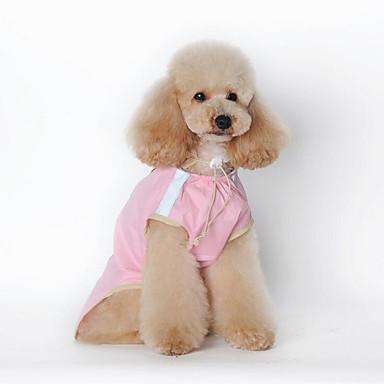 كلب معطف المطر ملابس الكلاب كاجوال/يومي سادة أخضر زهري كوستيوم للحيوانات الأليفة