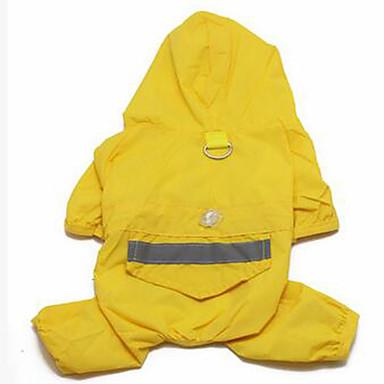 كلب معطف المطر ملابس الكلاب مقاومة الماء متين أصفر أحمر أزرق
