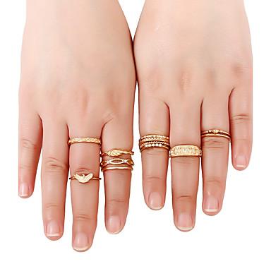 Dames Bandringen Ring manchet Ring Gepersonaliseerde Rock Multi-ways Wear Euramerican Eenvoudige Stijl Goud Metaallegering Strass