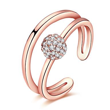Pentru femei Lux Boem Hipoalergenic Bikini Cristal Zirconiu Cubic Aur roz Zirconiu Articole de ceramică Argilă Aliaj Inel - Geometric