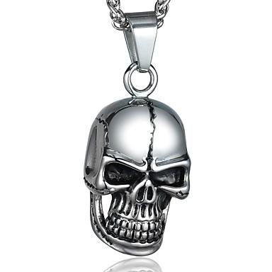 Uçlu Kolyeler Skull shape Titanyum Çelik Moda Kişiselleştirilmiş Mücevher Uyumluluk Halloween Günlük Yılbaşı Hediyeleri