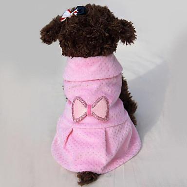 Hund Kleider Hundekleidung Lässig/Alltäglich Prinzessin Schleife Beige Rosa Kostüm Für Haustiere
