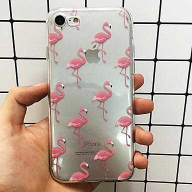 Case Kompatibilitás Apple iPhone X / iPhone 8 / iPhone 7 Ultra-vékeny / Áttetsző Fekete tok Flamingó Puha TPU mert iPhone X / iPhone 8 Plus / iPhone 8