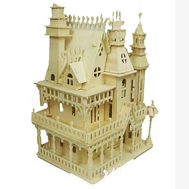 3D-puzzels Legpuzzel Houten modellen Modelbouwsets Beroemd gebouw Huis DHZ Hout Klassiek Volwassenen Unisex Geschenk