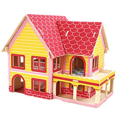 Robotime 3D - Puzzle Holzpuzzle Holzmodell Modellbausätze Berühmte Gebäude Haus Architektur 3D Heimwerken Kartonpapier Holz Klassisch 6