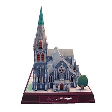 3D - Puzzle Papiermodel Modellbausätze Quadratisch Berühmte Gebäude Kirche Architektur Heimwerken Hartkartonpapier Klassisch Jungen Unisex