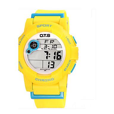 Dames Modieus horloge Digitaal Rubber Band Blauw Rood Geel
