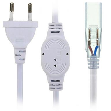 Hkv® us / eu priză de priză cu 2 pini pentru 5630/5050 smd banda de lumină led ac220-240v