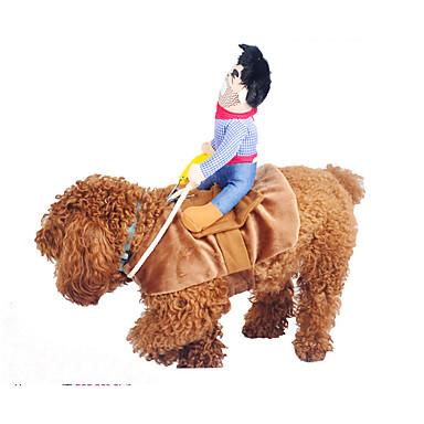 كلب ازياء تنكرية ملابس الكلاب الكوسبلاي جينزات أصفر أزرق كاكي كوستيوم للحيوانات الأليفة