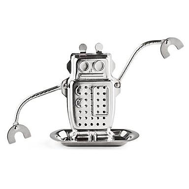 1pc robot vorm theezakjes roestvrij staal metalen structuur thee-ei