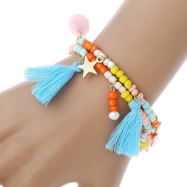 Dames Armbanden met ketting en sluiting Bedelarmbanden Strand Armbanden Bohémien Met de Hand Gemaakt Modieus Sierstenen Hars Legering