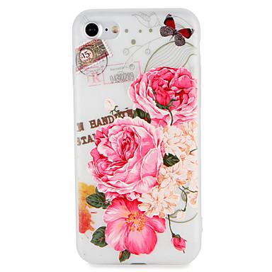 Maska Pentru Apple iPhone 7 Plus iPhone 7 Model Embosat Capac Spate Fluture Floare Moale TPU pentru iPhone 7 Plus iPhone 7 iPhone 6s Plus