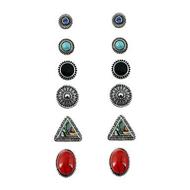 للمرأة أقراط الزر هندسي سبيكة معدنية سبيكة Geometric Shape مجوهرات عيد ميلاد كاجوال/يومي شارع مواعدة مجوهرات