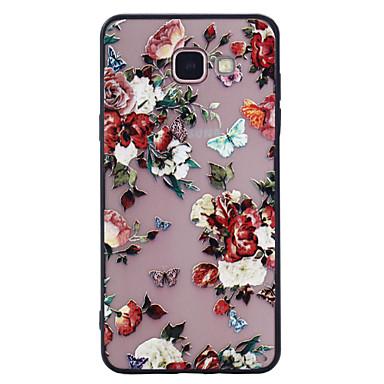 Hülle Für Samsung Galaxy A5(2017) A3(2017) Mattiert Muster Rückseitenabdeckung Schmetterling Blume Hart PC für A3 (2017) A5 (2017)