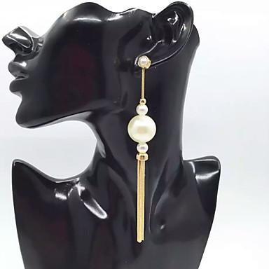 Dames Druppel oorbellen Imitatie Parel Gepersonaliseerde Luxe Uniek ontwerp Hangende stijl Riipus Klassiek Standaard Sexy Vriendschap