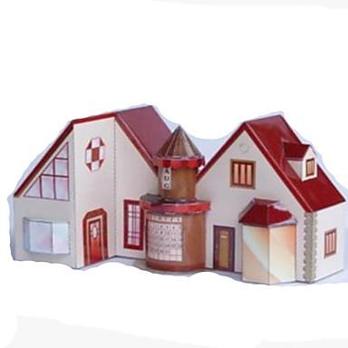 قطع تركيب3D نموذج الورق أشغال الورق مجموعات البناء مربع بيت 3D اصنع بنفسك ورق صلب كلاسيكي كرتون للجنسين هدية