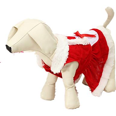 Câine Costume Îmbrăcăminte Câini Crăciun Mată Rosu Costume Pentru animale de companie