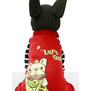 Hond Sweatshirt Hondenkleding Casual/Dagelijks Cartoon Geel Rood