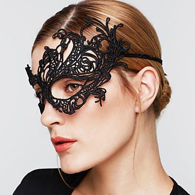 Dames Vintage Feest Elegant Gothic Bruiloft Kant Masker -