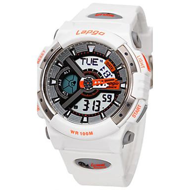 Heren Sporthorloge Modieus horloge Digitaal Waterbestendig Rubber Band Zwart Wit Blauw