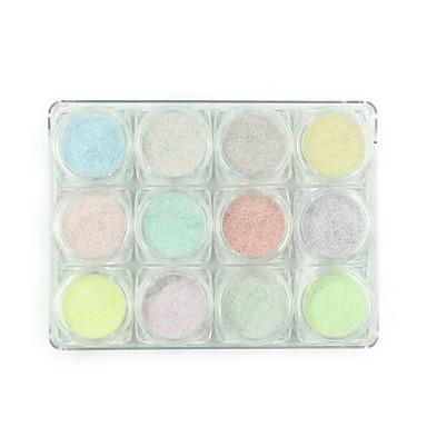 12 culori amestecate dimensiuni 3d nail art perle pietre decoratiuni accesorii frumos rotund unghii perla roz 130g / buc