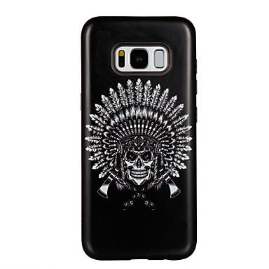 Hülle Für Samsung Galaxy S8 Plus S8 Stoßresistent Muster Rückseite Feder Totenkopf Motiv Hart PC für S8 Plus S8 S7 edge S7 S6 edge S6