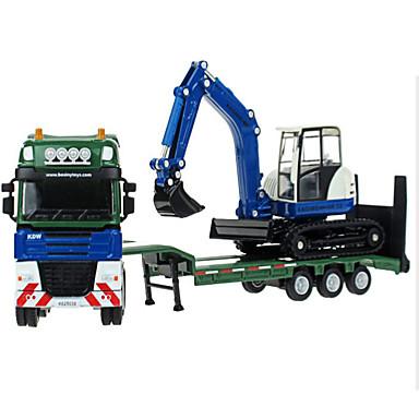 Jucării pentru mașini Model Mașină Motocicletă Vehicul de Construcție Vehicul Pompieri Excavator Jucarii Simulare Dreptunghiular Excavator