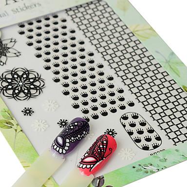 1 Nail Art autocolant Model Fete & Tinere Femei  3-D Consumabile DIY Autocolant machiaj cosmetice Nail Art Design