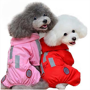 Câine Haină de ploaie Îmbrăcăminte Câini Mată Rosu Roz Fibră Acrilică Costume Pentru animale de companie Bărbați Pentru femei Casul/Zilnic