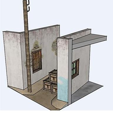 3D - Puzzle Papiermodel Papiermodelle Modellbausätze Quadratisch Haus 3D Simulation Heimwerken Hartkartonpapier Klassisch Unisex Geschenk