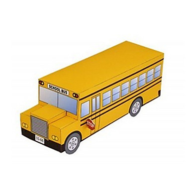 Speelgoedauto's 3D-puzzels Bouwplaat Vliegtuig Trein Schip Bus DHZ Klassiek Trein Politieauto Ambulance Unisex Geschenk