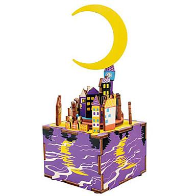 Holzpuzzle Berühmte Gebäude MOON Zeichentrick Heimwerken Hölzern Komposit Kinder Geschenk