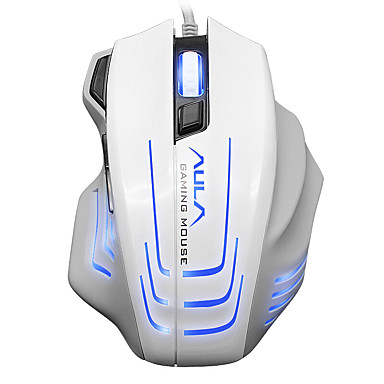 Aula 2500dpi 6600fps 80ips gaming muis bekleed spel muis wit