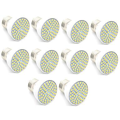 3.5 GU10 LED ضوء سبوت MR16 60 الأضواء SMD 2835 ديكور أبيض دافئ أبيض كول 300lm 3000/6500K AC 220-240V